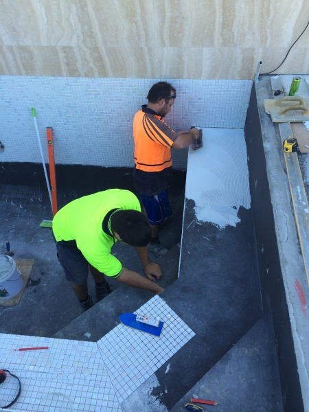 Yokine swimming pool modern stone and tile for 181 st georges terrace perth