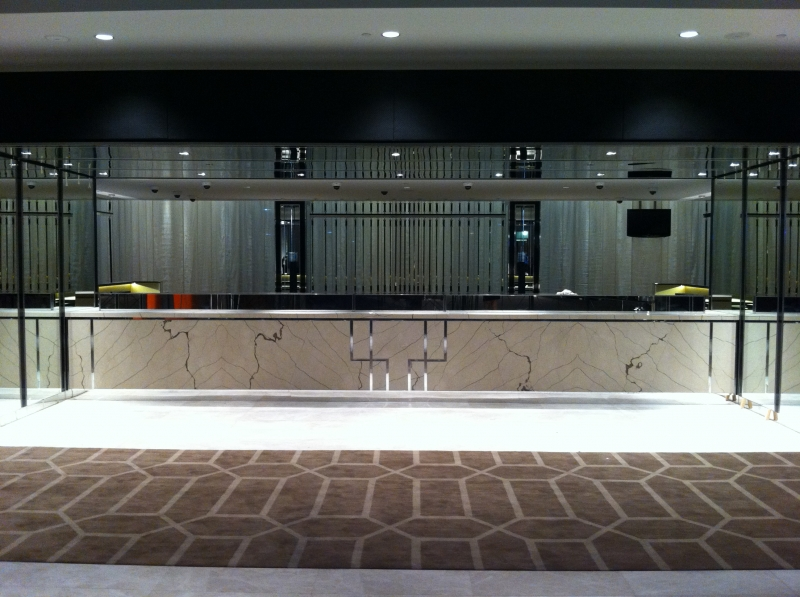 Crown metropol front desk modern stone and tile for 181 st georges terrace perth